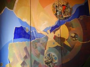Toiles monumentales du choeur, Béatrice Signorelli et Etienne Voulhoux
