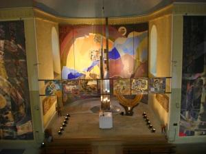 Vue du chœur depuis le balcon de l'église, Béatrice Signorelli & Etienne Voulhoux
