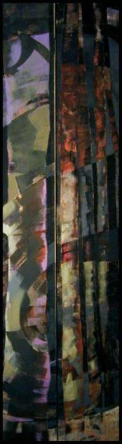 """""""Forêt d'errance"""" (acrylique et sable sur toile), abside Est. Béatrice Signorelli et Étienne Voulhoux."""