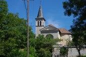 Le fronton de l'Eglise St Jean Baptiste