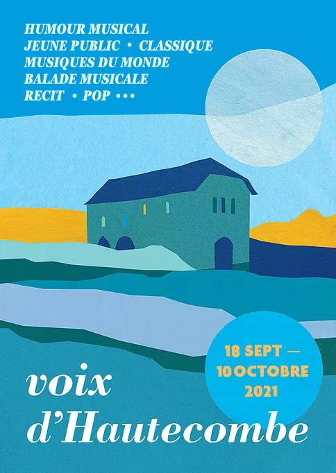 Affiche Festival Voix d'Hautecombe 2021